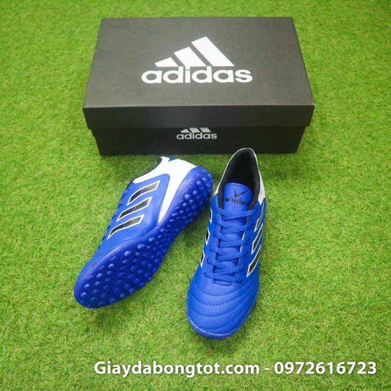Giày đá banh trẻ em sản xuất tại Việt Nam Copa 18.4 màu xanh dương trắng da mềm