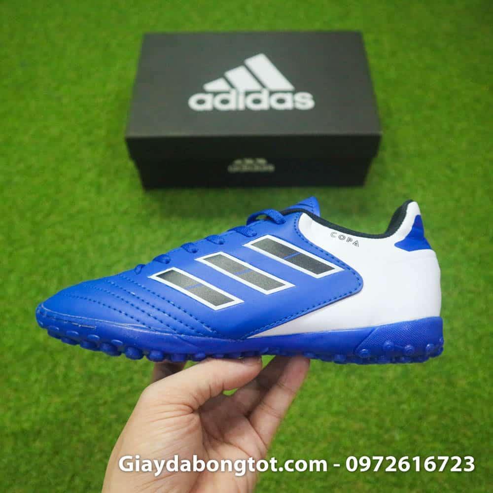 Giày đá bóng trẻ em đinh thấp giá rẻ mà chất lượng tốt Copa 18.4 xanh dương
