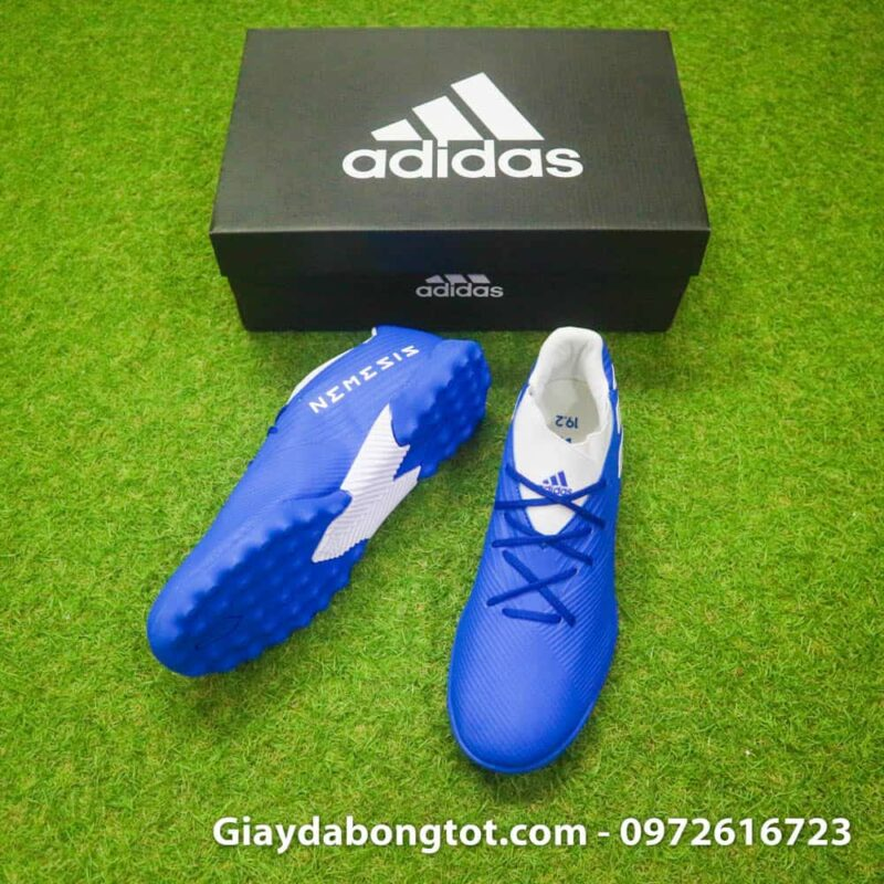 Giày bóng đá Adidas Nemeziz 19.3 TF màu xanh dương có da giày êm mềm thoải mái