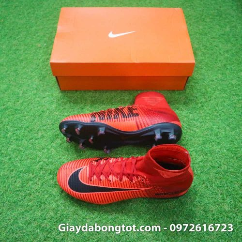 Giay bong da Nike cao co Mercurial Superfly mau do lua (1)