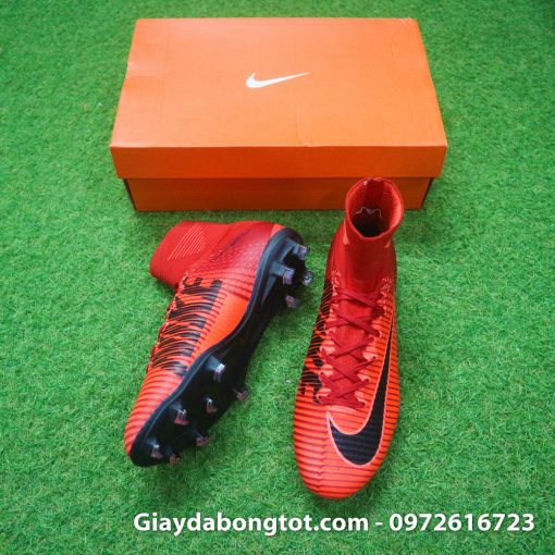 Giay bong da Nike cao co Mercurial Superfly mau do lua (2)