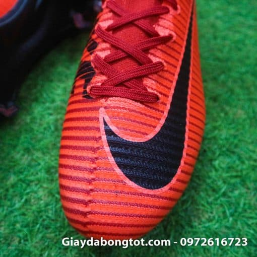 Giay bong da Nike cao co Mercurial Superfly mau do lua (4)