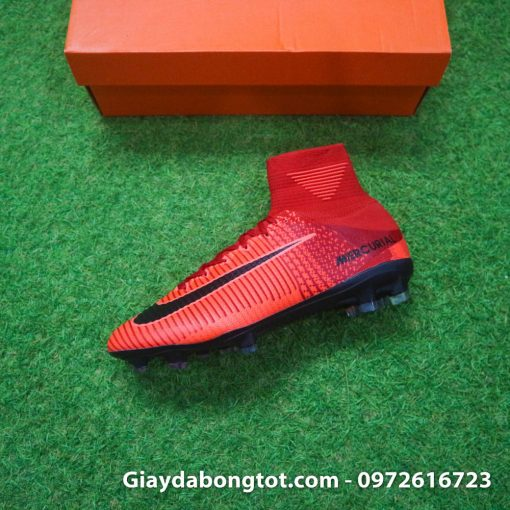 Giay bong da Nike cao co Mercurial Superfly mau do lua (5)
