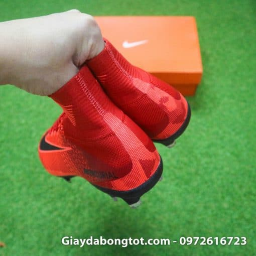 Giay bong da Nike cao co Mercurial Superfly mau do lua (9)