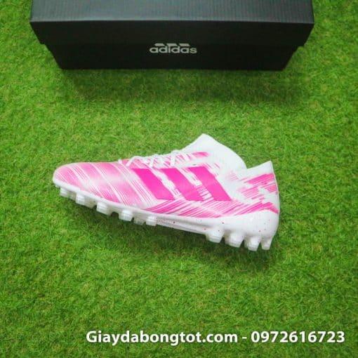 Giay da banh Adidas Nemeziz 18.1 AG hong trang (12)