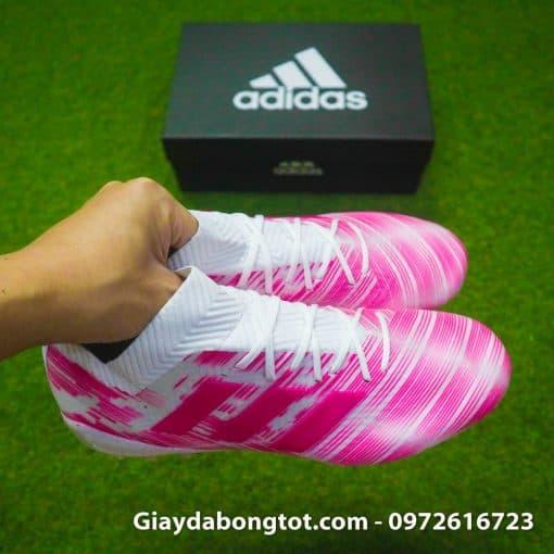 Giay da banh Adidas Nemeziz 18.1 AG hong trang (7)