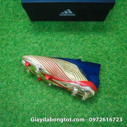Giay da banh khong day Adidas Predator 19+ FG Vang Gold Zidane (1)