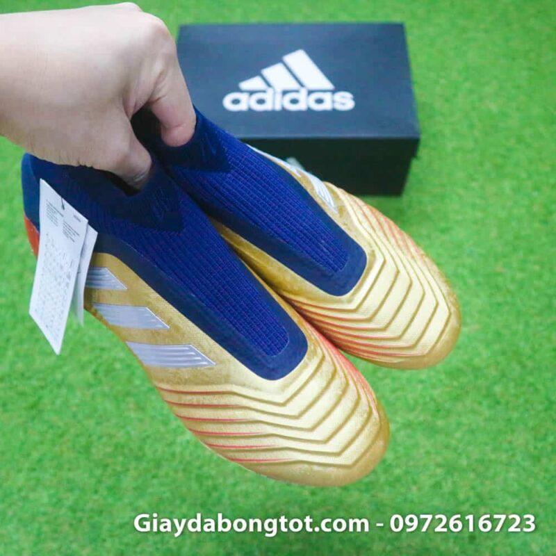 Giay da banh khong day Adidas Predator 19+ FG Vang Gold Zidane (10)