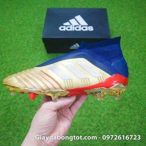 Giay da banh khong day Adidas Predator 19+ FG Vang Gold Zidane (11)
