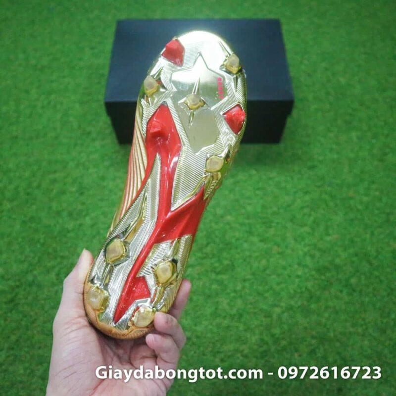 Giay da banh khong day Adidas Predator 19+ FG Vang Gold Zidane (13)