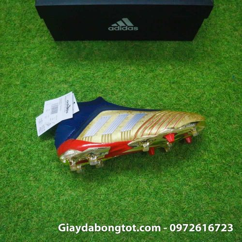 Giay da banh khong day Adidas Predator 19+ FG Vang Gold Zidane (14)