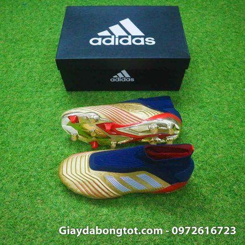Giay da banh khong day Adidas Predator 19+ FG Vang Gold Zidane (2)