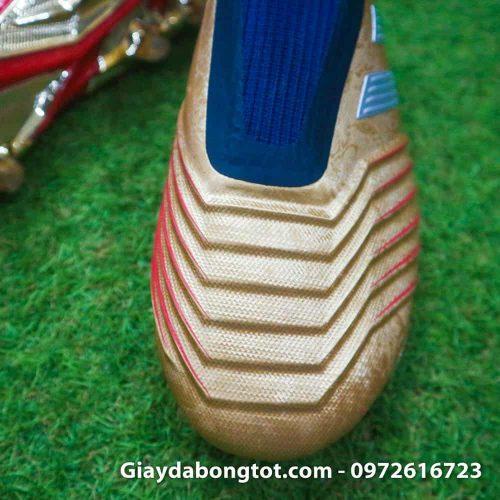 Giay da banh khong day Adidas Predator 19+ FG Vang Gold Zidane (5)