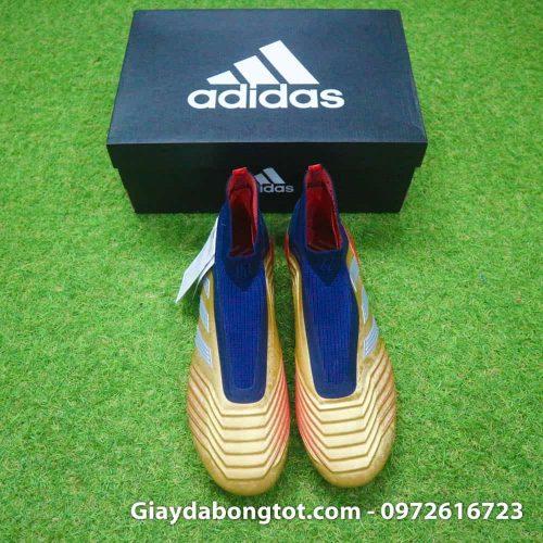 Giay da banh khong day Adidas Predator 19+ FG Vang Gold Zidane (6)