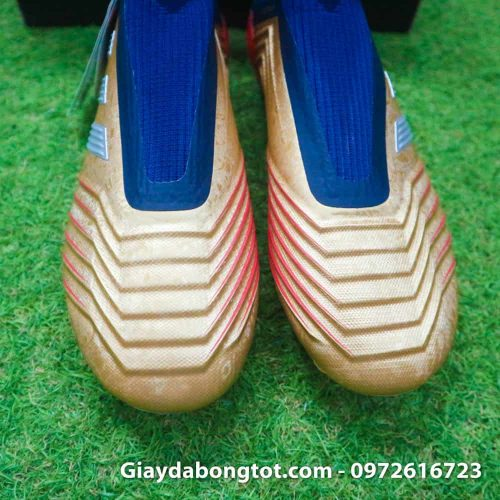 Giay da banh khong day Adidas Predator 19+ FG Vang Gold Zidane (7)