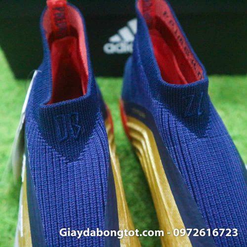 Giay da banh khong day Adidas Predator 19+ FG Vang Gold Zidane (8)