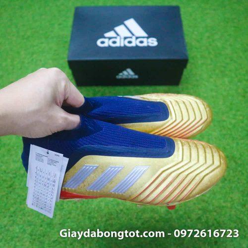 Giay da banh khong day Adidas Predator 19+ FG Vang Gold Zidane (9)