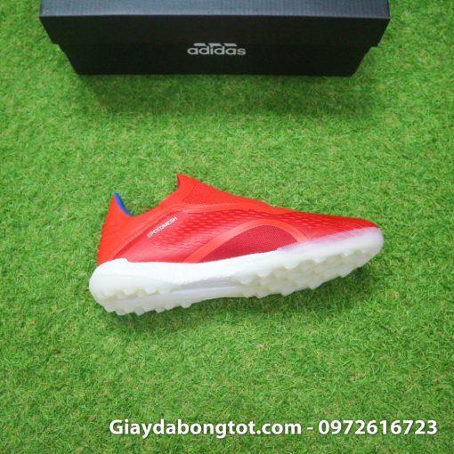 Giay da banh khong day Adidas X18+ TF mau do vach bac (1)