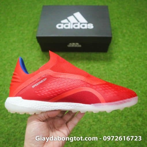 Giày đá banh Adidas X18+ TF có đế giày sân cỏ nhân tạo có đệm boost êm chân
