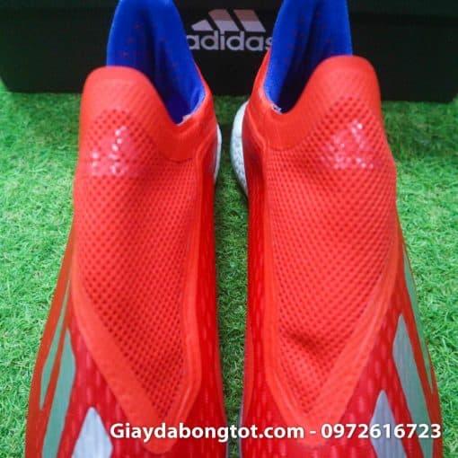 Giay da banh khong day Adidas X18+ TF mau do vach bac (7)