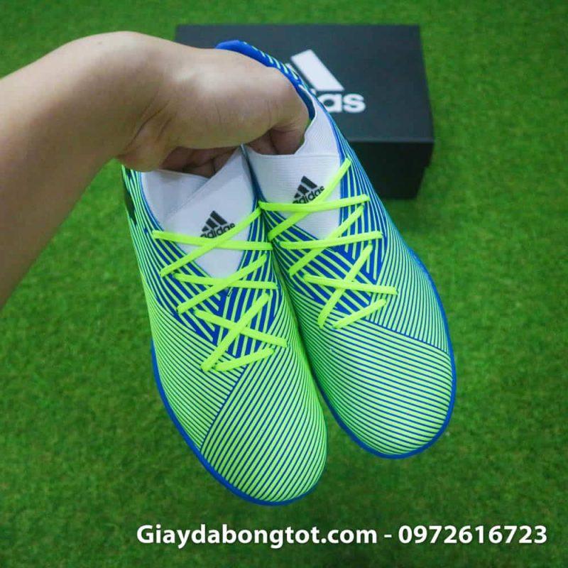 Giay da banh san co nhan tao Adidas Nemeziz 19.3 TF chuoi soc den (8)