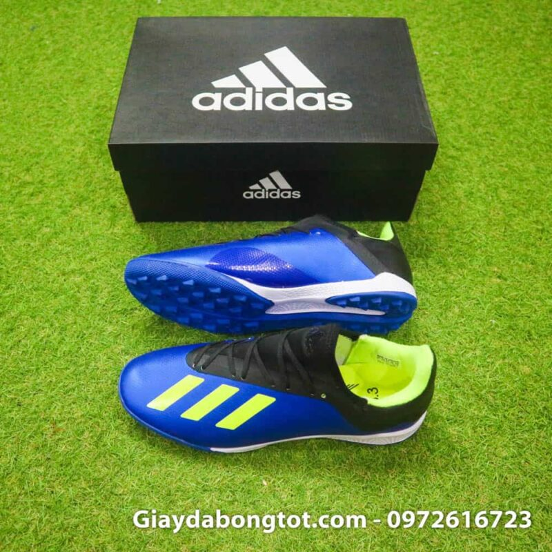 Giay da banh san co nhan tao Adidas X18.3 TF xanh duong (2)