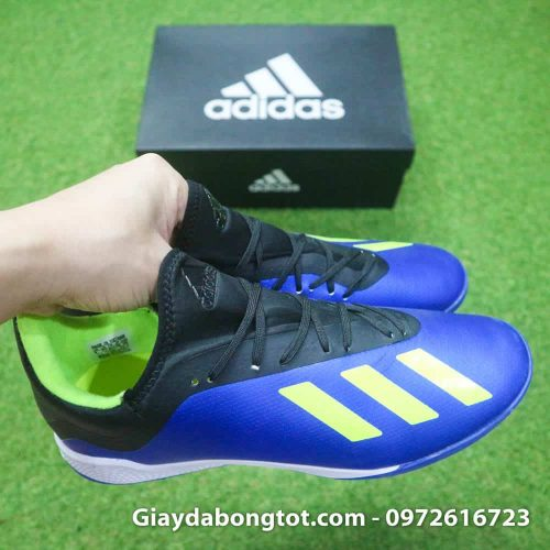 Giay da banh san co nhan tao Adidas X18.3 TF xanh duong (4)