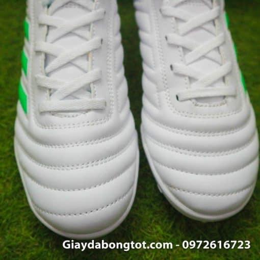 Giay da banh sieu nhe Adidas Copa 19.4 TF trang vach xanh (1)