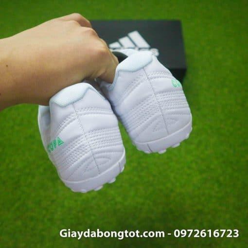 Giay da banh sieu nhe Adidas Copa 19.4 TF trang vach xanh (13)