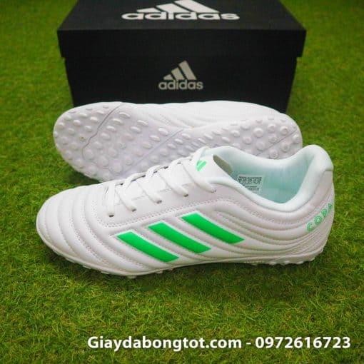 Giay da banh sieu nhe Adidas Copa 19.4 TF trang vach xanh (3)