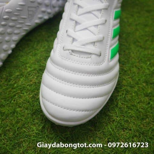 Giay da banh sieu nhe Adidas Copa 19.4 TF trang vach xanh (6)
