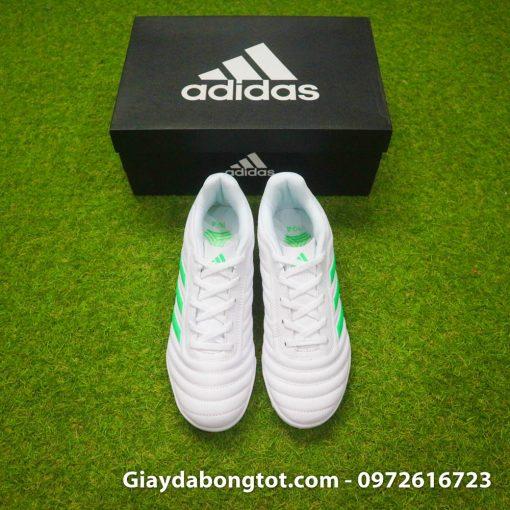 Giay da banh sieu nhe Adidas Copa 19.4 TF trang vach xanh (7)