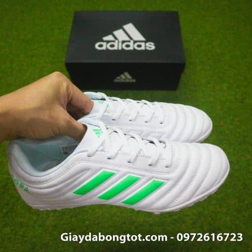 Giay da banh sieu nhe Adidas Copa 19.4 TF trang vach xanh (8)