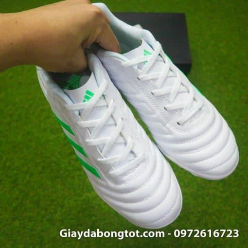 Giay da banh sieu nhe Adidas Copa 19.4 TF trang vach xanh (9)