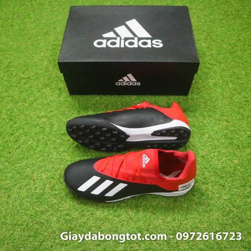 Giay da bong Adidas X18.3 TF den do san co nhan tao (2)