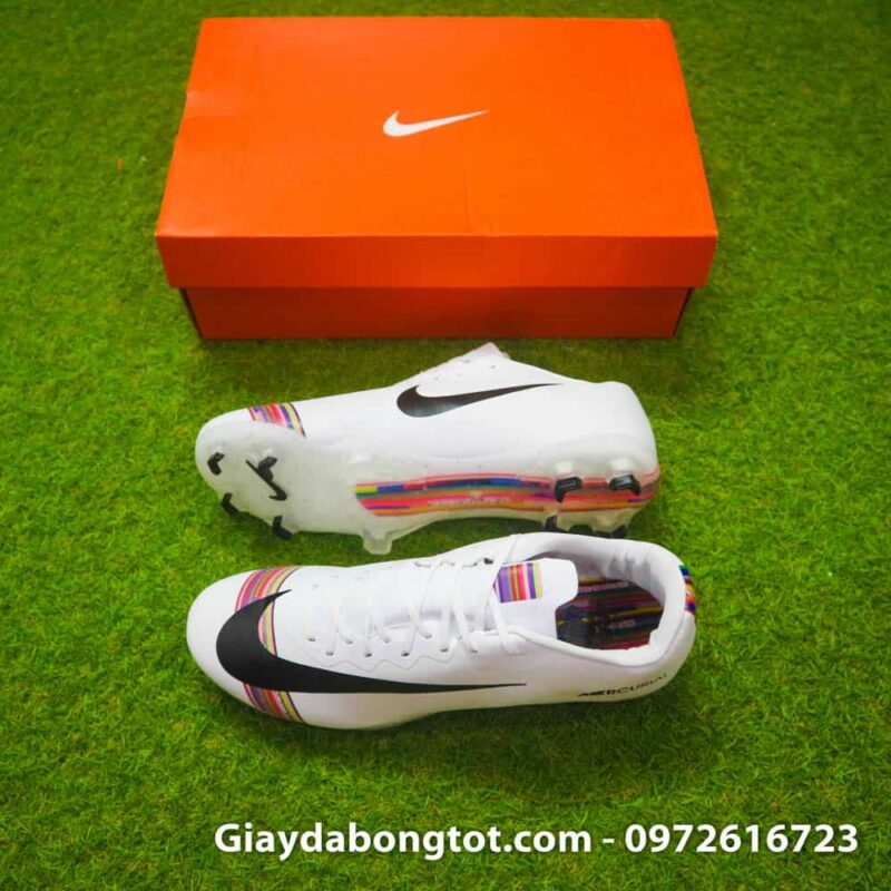 Giay da bong Nike Mercurial CR7 FG mau trang level up (2)