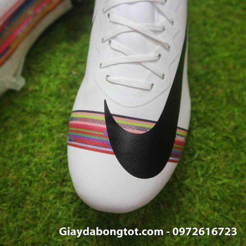 Giay da bong Nike Mercurial CR7 FG mau trang level up (5)