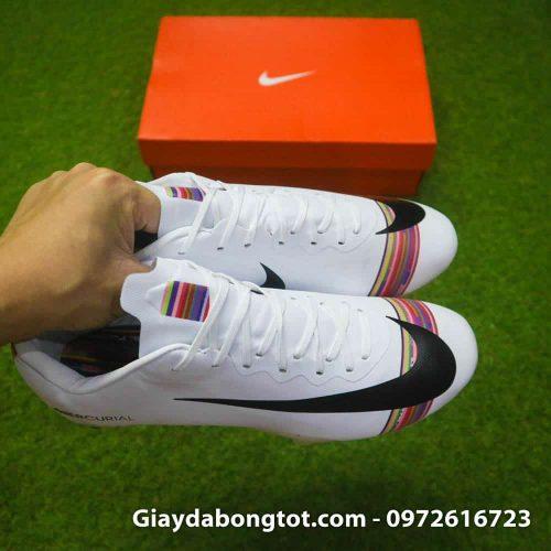 Giay da bong Nike Mercurial CR7 FG mau trang level up (6)