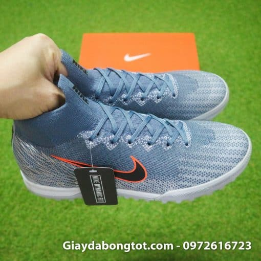 Giày đá bóng Nike cao cổ sân cỏ nhân tạo Mercurial Superfly 6 với thiết kế chắc chắn và êm ái