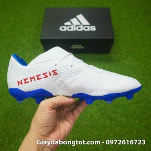 Giay da bong da mong Adidas Nemeziz 19.3 FG trang vach do (11)