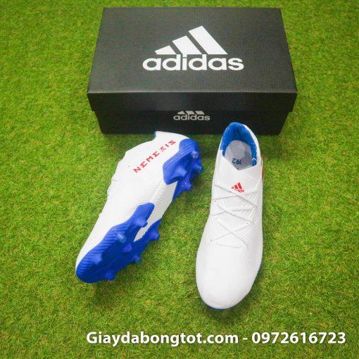 Giày đá bóng Adidas Nemeziz 19.3 FG màu trắng có da mỏng thật chân