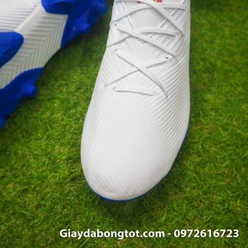 Giay da bong da mong Adidas Nemeziz 19.3 FG trang vach do (5)