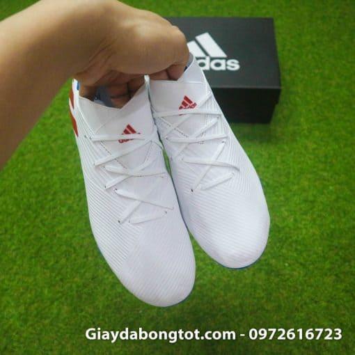 Giay da bong da mong Adidas Nemeziz 19.3 FG trang vach do (9)