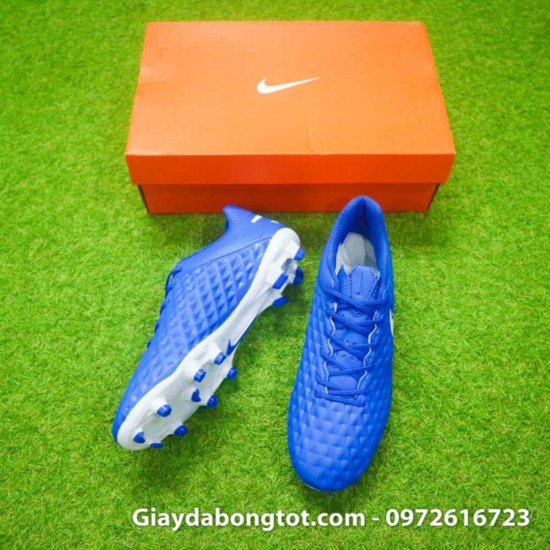 Giày đá bóng đinh cao Nike Tiempo 8 FG có lớp da sần hỗ trợ kiểm soát bóng tốt