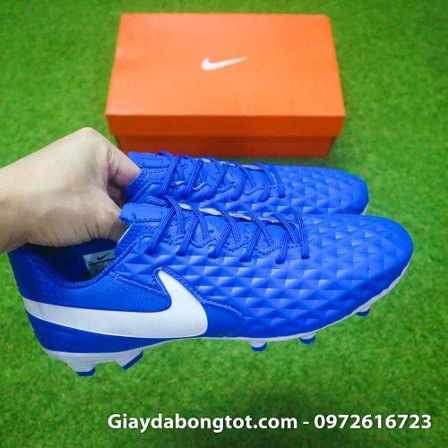 Giay da bong da san Nike Tiempo Academy FG xanh duong da san (5)