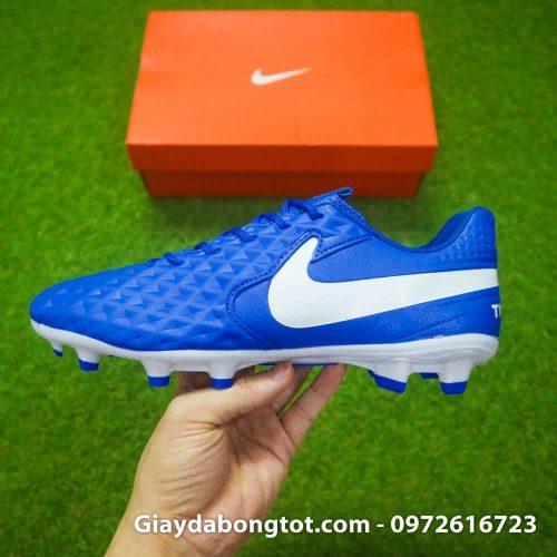 Giày đá banh Nike Tiempo 8 Academy FG màu xanh dương có form giày thon gọn