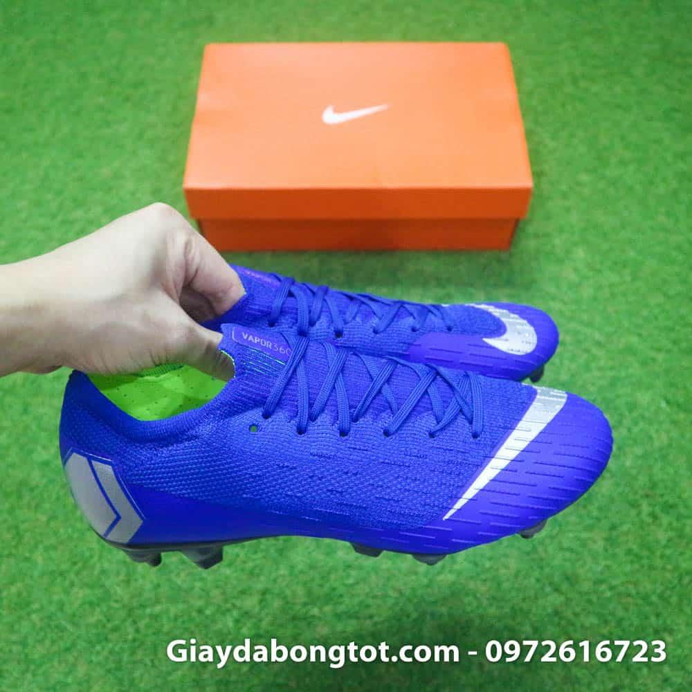 Form giày cực kỳ đẹp mắt của giày đá bóng Nike Mercurial Vapor XII SG Pro màu xanh dương