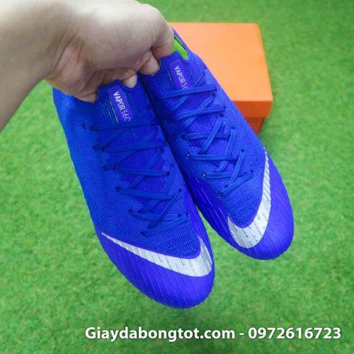 Giay da bong dinh sat Nike Mercurial Vapor XII SG mau xanh duong (12)