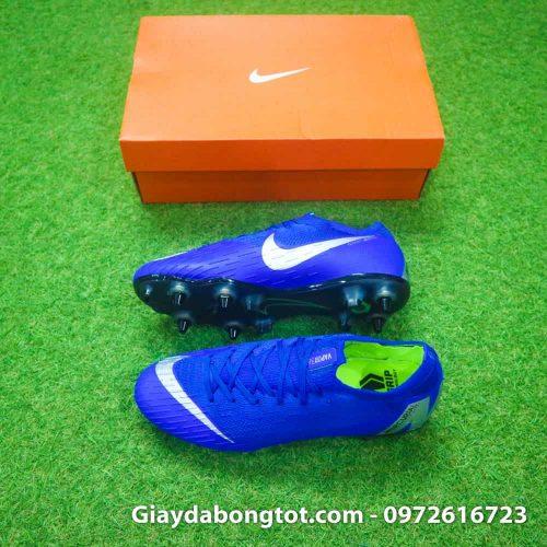 Giay da bong dinh sat Nike Mercurial Vapor XII SG mau xanh duong (2)