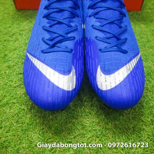 Giay da bong dinh sat Nike Mercurial Vapor XII SG mau xanh duong (8)